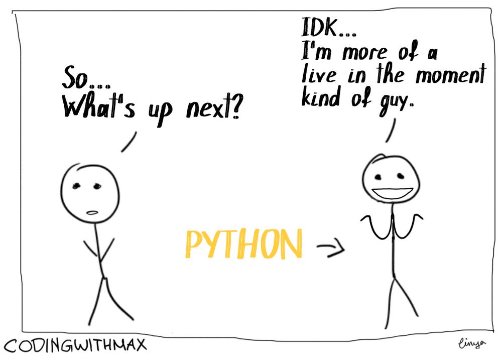 python programming as a comic