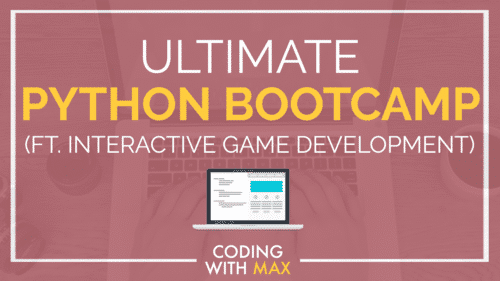 Python Bootcamp:  fully comprehensive course on Python taught with interactive game development (aka. we build a game together using Python and learn Python in the process. Two birds, one programming language!)