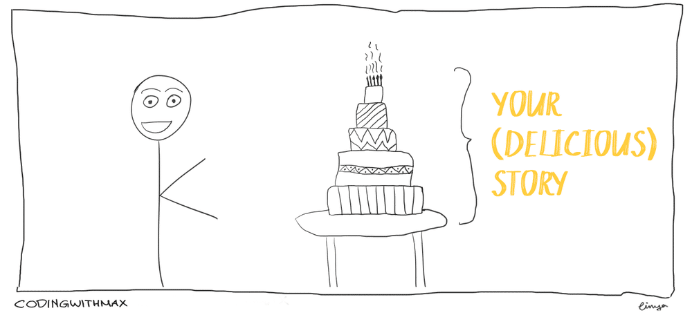 data visualization as a cake