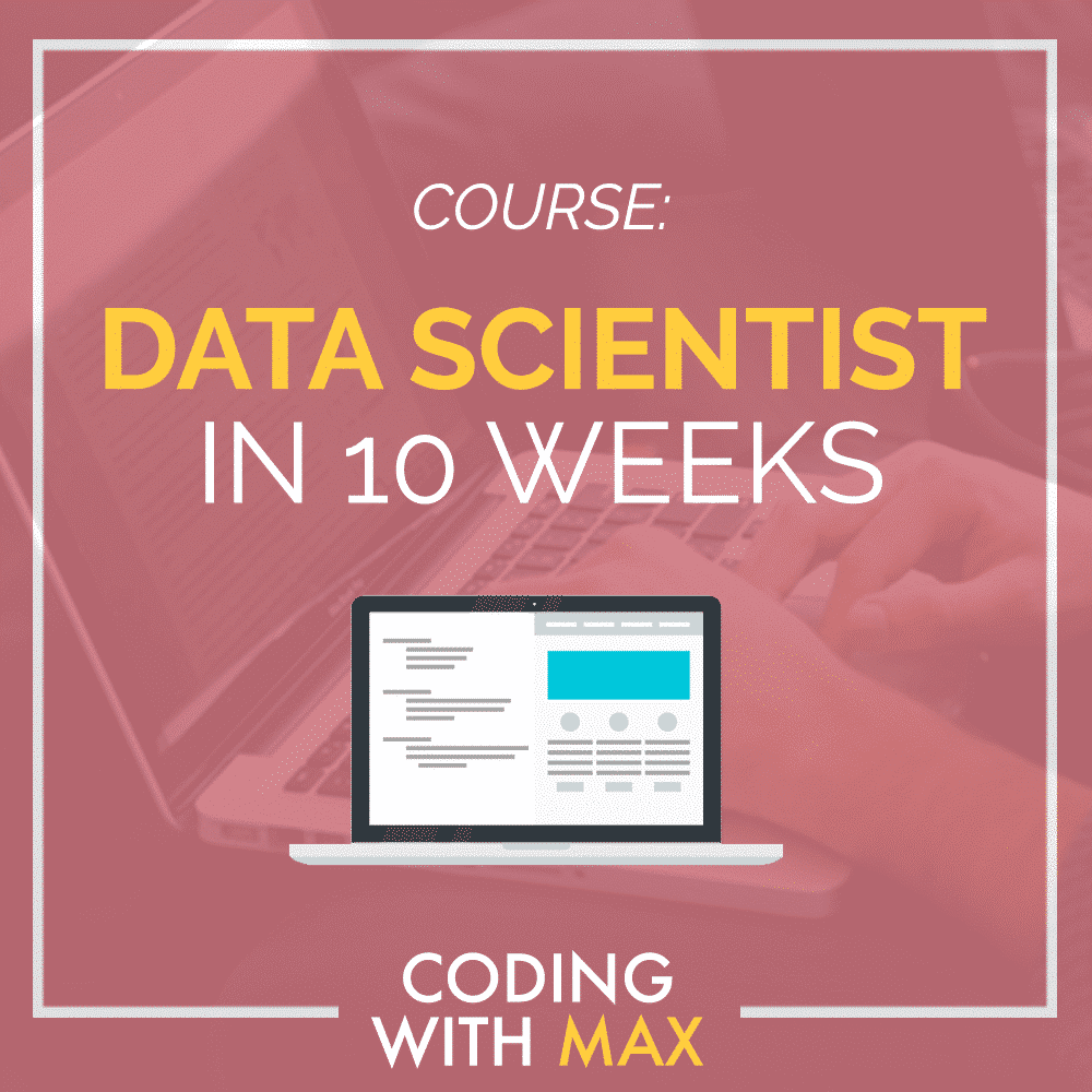 If you're looking for a comprehensive, A to Z data scientist training, check out my  Data Scientist in 10 weeks course , where I take you through all the tools, techniques and programming that I use in my day-to-day job as a Lead Data Scientist.  (I also show you all the possible data visualization techniques you could ever need in this course!)