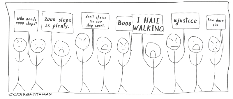 2000 steps initiative comic