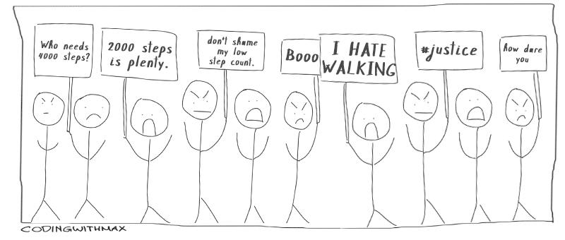 2000 steps initiative comic