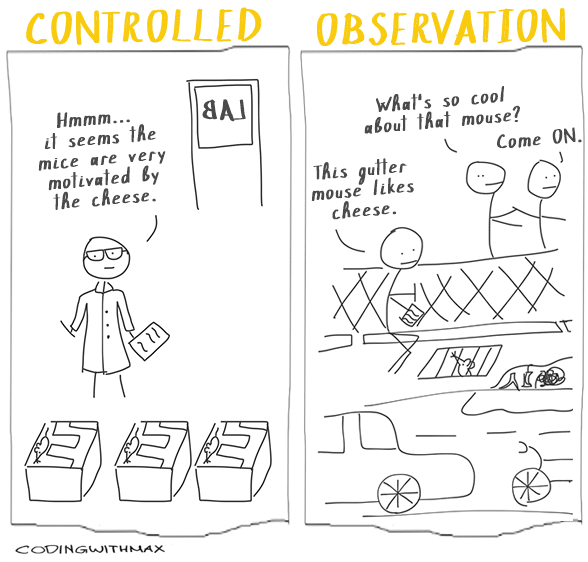 OBSERVED controlled experiments comic
