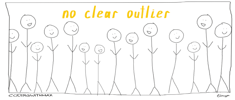 no clear outlier data comic
